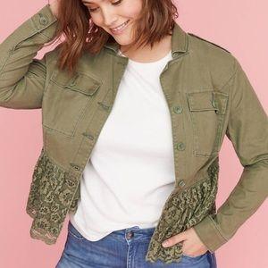 Lane Bryant Lace peplum utility jacket